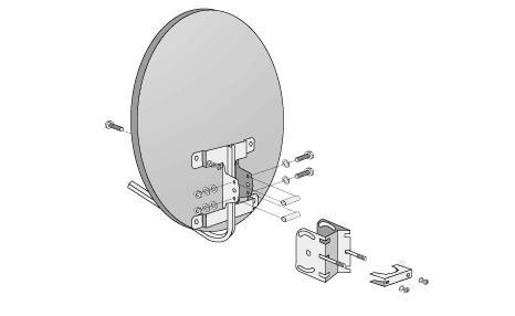 Если спутниковая антенна висит за окном, то отверстия под кабель можно сделать в двух местах: либо в углу оконной...